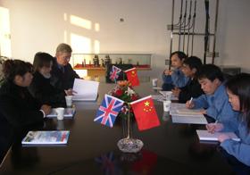 英国塞诺国际贸易公司总裁麦可等一行人来上上考察