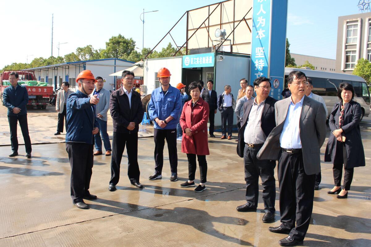 2019年10月15日,溧阳市人大常委会领导来公司视察新厂区建设