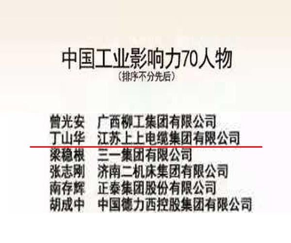 """上上电缆一举囊获建国70周年中国工业影响力""""70企业""""""""70人物""""""""70品牌""""三大殊荣"""