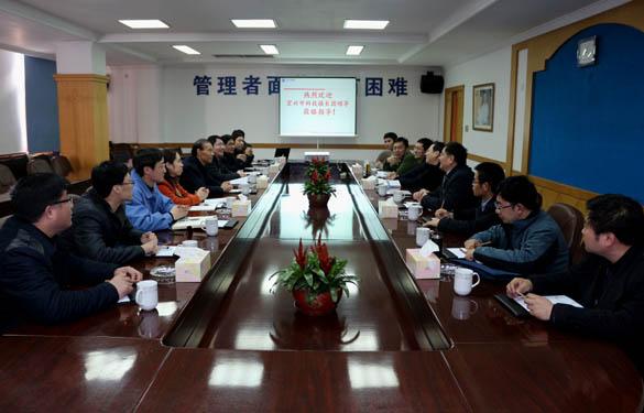 2015年3月12日,宜兴市科技镇长团一行来上上电缆调研