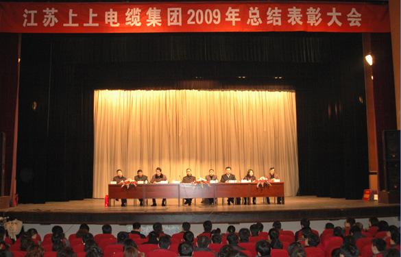 江苏上上电缆集团隆重召开2009年度总结表彰大会