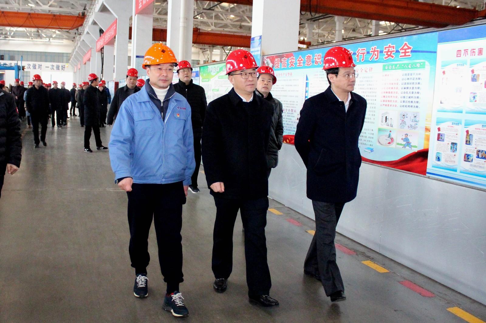 2019年1月16日,郎溪县党政代表团一行来上上电缆参观交流