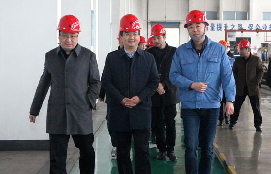 2020年12月8日,广德市市委常委、常务副市长邱铁军一行来上上亚博yabo210考察