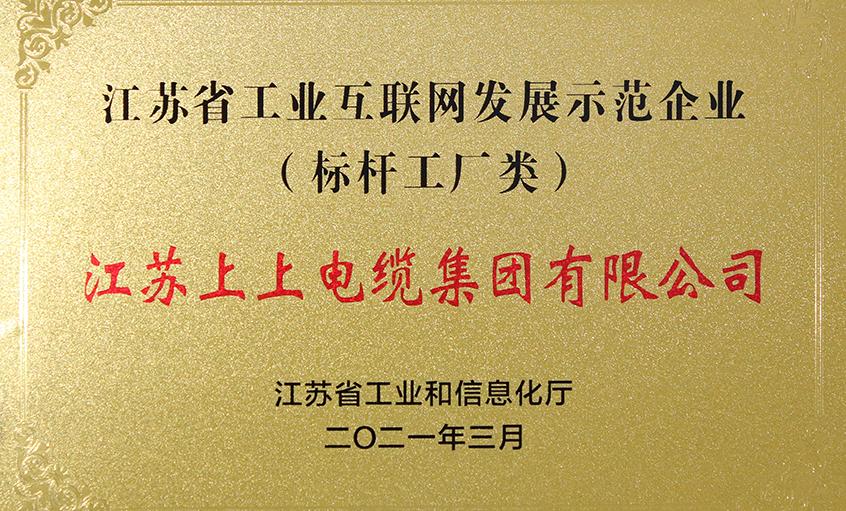 """上上亚博yabo210获评""""江苏省工业互联网发展示范企业"""""""