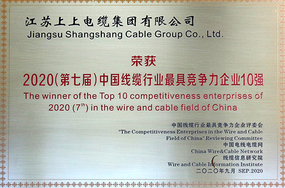 中国线缆行业最具竞争力企业十强